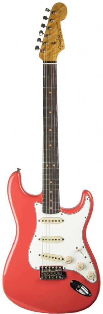 Fender Custom Shop 63 Journeyman Relic Stratocaster Faded Fiesta Red